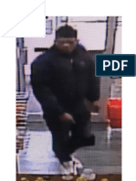 Surveillance Photograph of Attempted Robbery Suspect