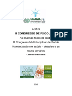 Anais Do III Congresso de Psicologia Unama 2018_final