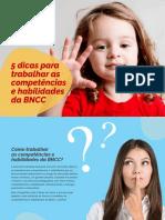 Infografico 5 Dicas Para Trabalhar as Competencias e Habilidades Da Bncc