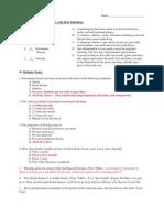 Man 2 Lesson 39 Preventing Disease Dental Quiz - Answer Key