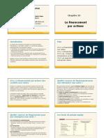 Theme 01 - Le Financement Par Actions
