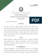 Sentenza Tar 4469-2009