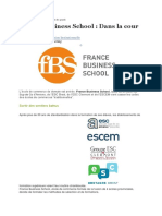 Article France Business School