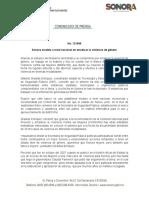 09-12-2018 Sonora modelo a nivel nacional en erradicar la violencia de género