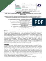 Análise do comportamento mecânico de pavers com adições pozolânicas