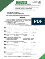 Subiect Comper Comunicare EtapaI 2017 2018 ClasaII