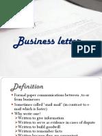 3 Business Letter Ppt