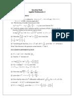 Question Bank Maths-I