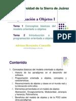 Tema 1 y 2 - Introduccion a La POO
