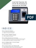Manual de Reloj Empresarial DICON