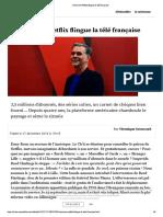 Comment Netflix flingue la télé française
