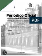 Calendario oficial gobierno Edomex 2019