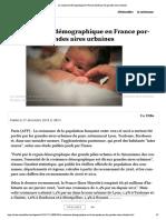 La croissance démographique en France portée par les grandes aires urbaines
