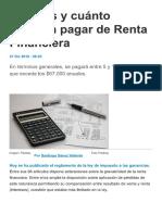 Quiénes y Cuánto Deberán Pagar de Renta..