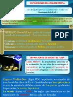 Definiciones de Arquitectura y Espacio (1a)