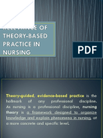Relevance of Theory-based Practice in Nursing