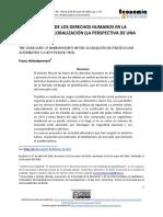 EL VACIAMIENTO DE LOS DERECHOS HUMANOS EN LA ESTRATEGIA DE GLOBALIZACIÓN (LA PERSPECTIVA DE UNA ALTERNATIVA)