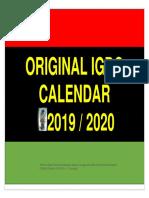 Ogu - Aro Igbo Original Calander 2019-20