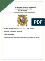 Inventario Hidrográfico