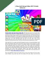 Panduan Daftar Situs Judi Sakong Online 2019