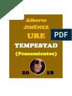 Tempestad (Pensamientos de Jiménez Ure) 2018