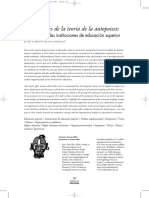 Aportaciones de La Teoría de La Autopoiesis Al Análisis de Las Instituciones Universitarias