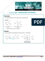 Bioquímica – Aminoácidos e Proteínas