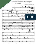 Supercalifragilisticexpialidocious Mary Poppins 4 Hands Piano