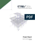 Etabs Project Report of Ashok Dhakal