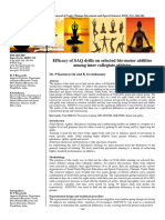 Efficacy of SAQ drills on selected bio-motor abilities among inter collegiate athletes