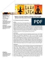Impact of circuit resistance training on leg strength among University players from different discipline