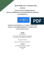 Tesis Sistema de Matricula y Consulta de Notas Para La Universidad Peruana Austral Del Cusco