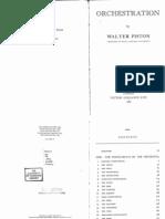Walter Piston - Orchestration