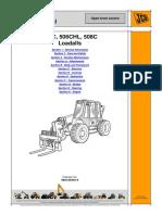 JCB 506 Telescopic Handler Service Repair Manual SN 579569.pdf