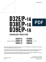Komatsu D32P-1A Dozer Bulldozer Service Repair Manual SN P076093 and up.pdf