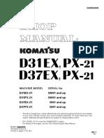 Komatsu D37EX-21 Bulldozer Service Repair Manual SN 5001 and up.pdf