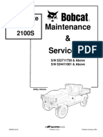 BOBCAT 2100 2100S WORKMATE UTILITY VEHICLE Service Repair Manual SN:522711758 & Above.pdf