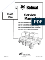 BOBCAT 2200S UTILITY VEHICLE Service Repair Manual SN A5A011001 & ABOVE (2200S GASOLINE).pdf