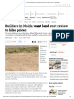 Builders in Noida Want Land Cost Review to Hike Prices, Real Estate News, ET RealEstate