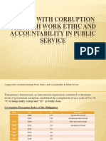 Coping With Corruption Through Work Ethic and Accountability