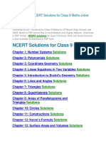 Find easily the NCERT Solutions for Class 9 Maths online free