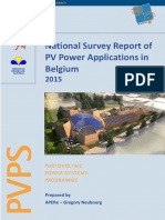 National Survey Report of PV Power Applications in Belgium - 2015