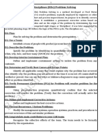 Eight Disciplines (8Ds) Problem Solving