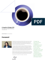 Deloitte - A Snapshot of Budget 2019