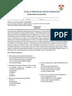 III TRIMESTRE AREA DE COMUNICACIÓN 2° y 3°