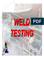 Testing of Welds