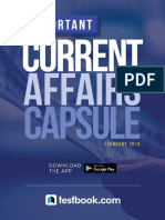 Current Affairs Capsule February 2018 in English 1