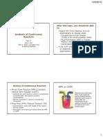 Analysis of CSTR