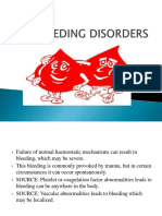 Bleeding Disorders Final Ppt