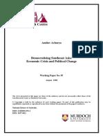 (131978712) 88610081 Democratising Southeast Asia Economic Crisis and Political Change Amitav Acharya
